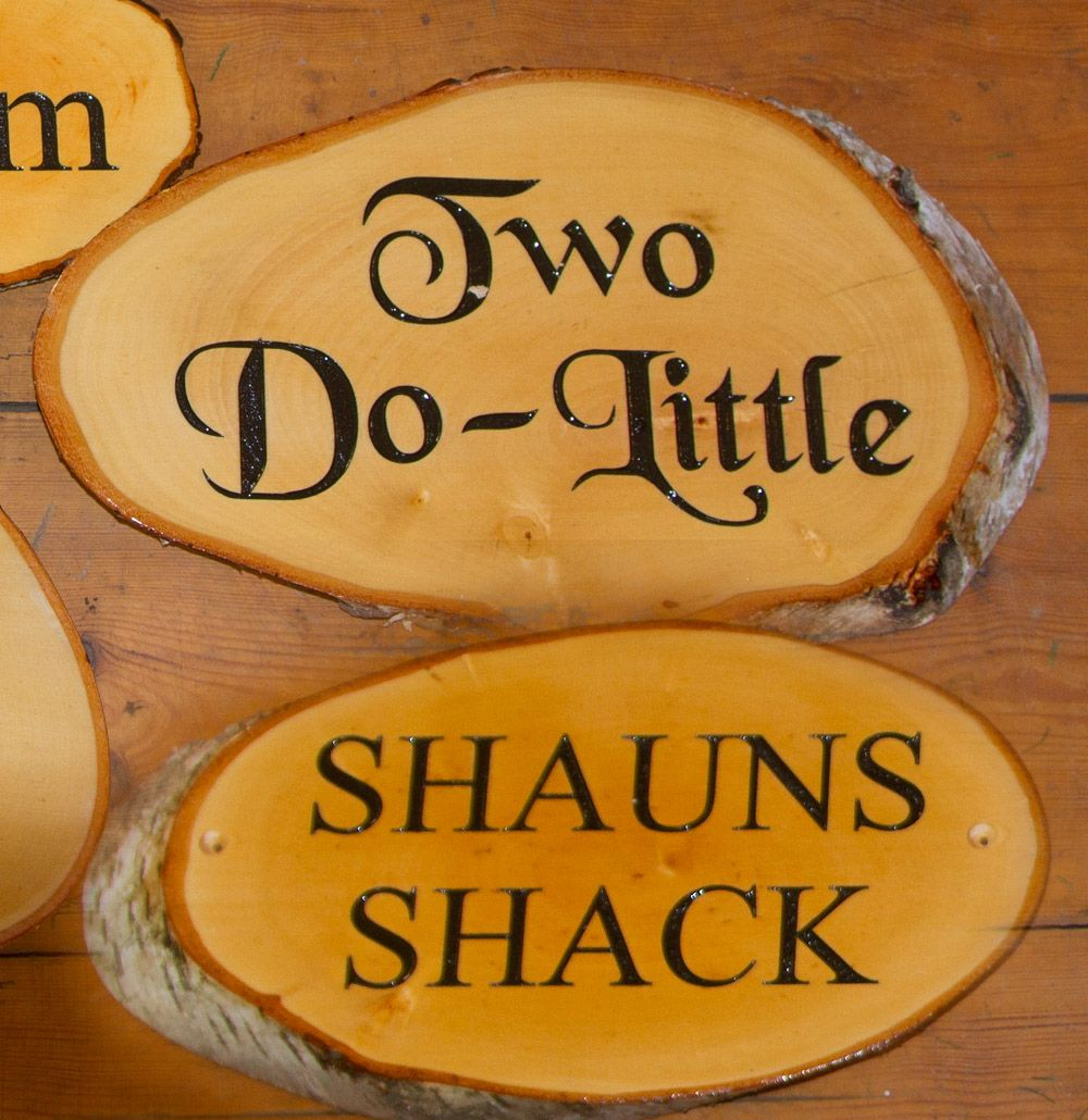 Online Sign Maker Medium Rustic Slice With Vinyl Letters